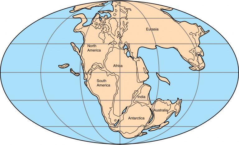 Πως θα έμοιαζε η Παγγαία με τα σημερινά διεθνή σύνορα